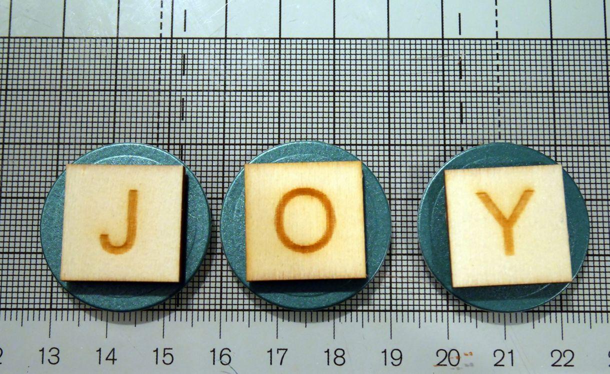 Joy Scrabble Card Nm 5