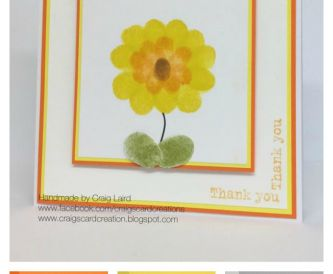 Project - Fingerpainting, Kids Easy Thank You Card