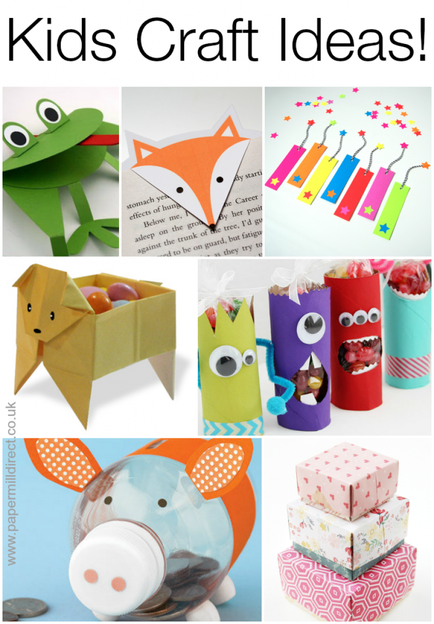 7 Fun Projects For Kids Made With Paper And Card