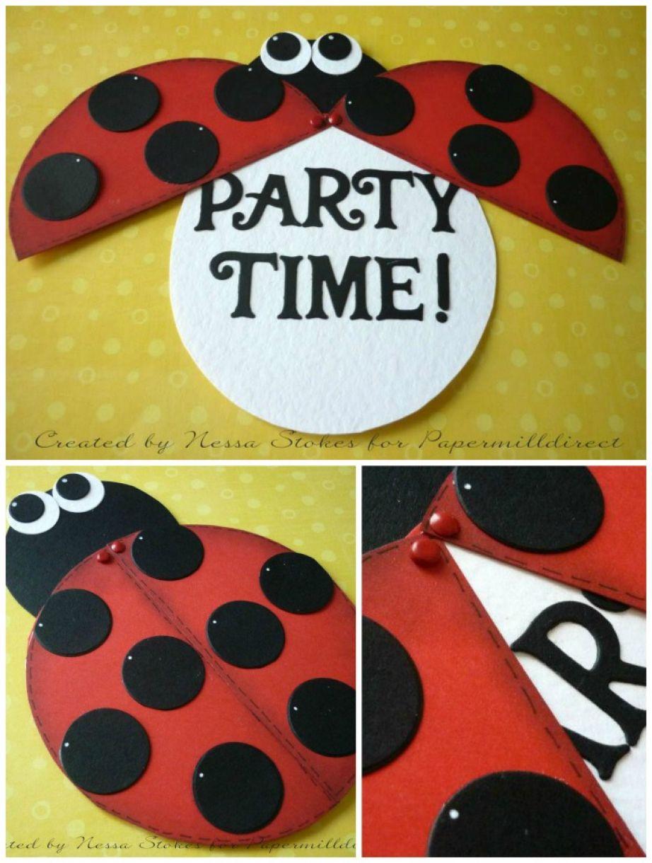 Kids Party Invite Idea Ladybird