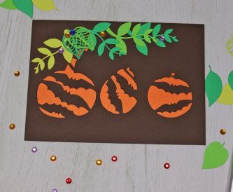 Pumpkins cut out card