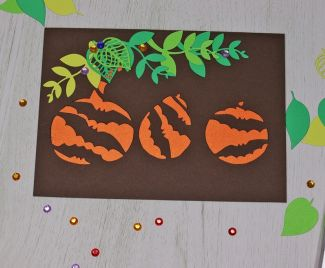 Pumpkins cut out card