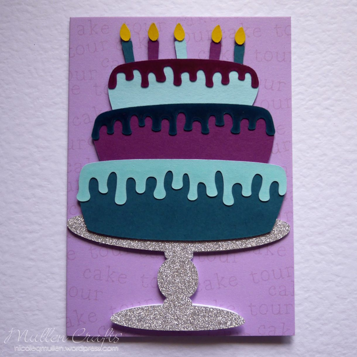 Layered Cake Bday Card Nicole 10