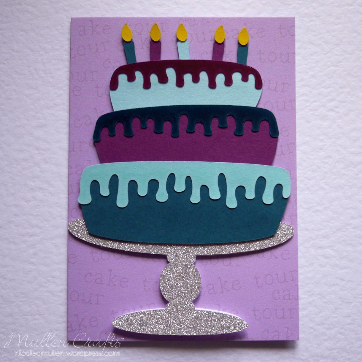 Layered Cake Bday Card Nicole 10