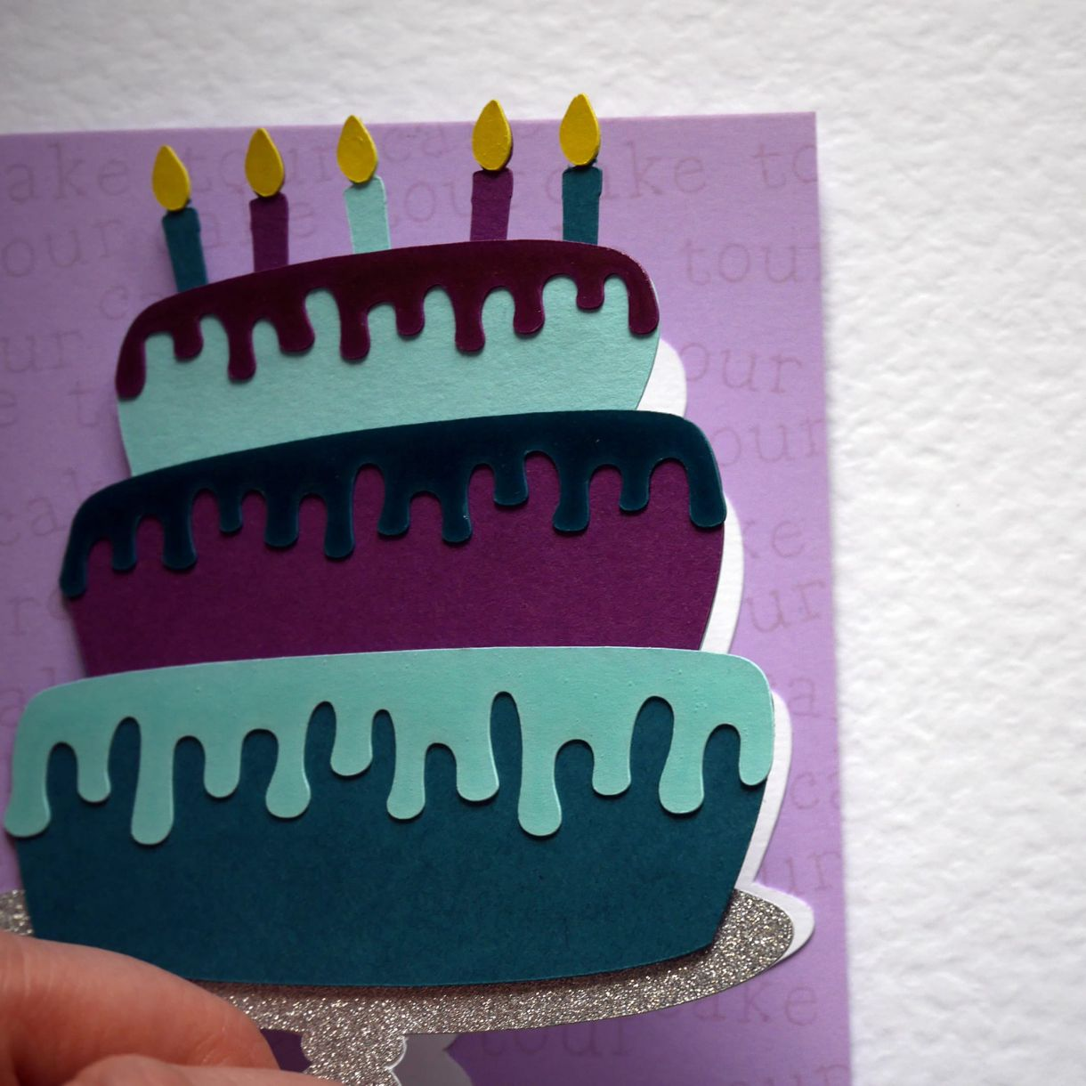 Layered Cake Bday Card Nicole 11