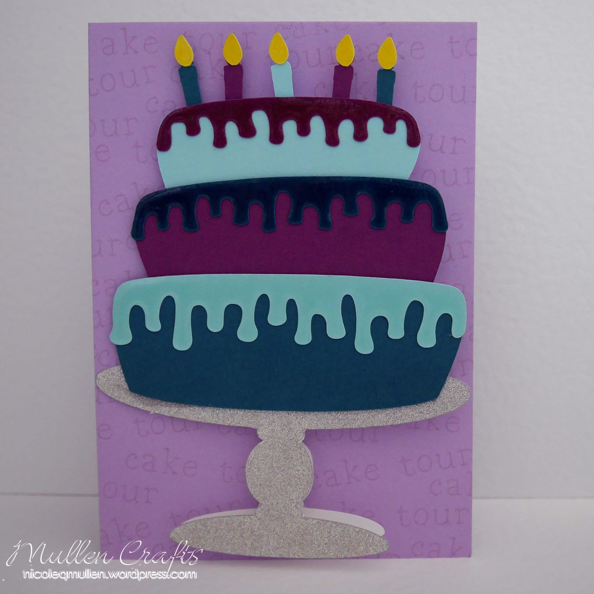 Layered Cake Bday Card Nicole 9