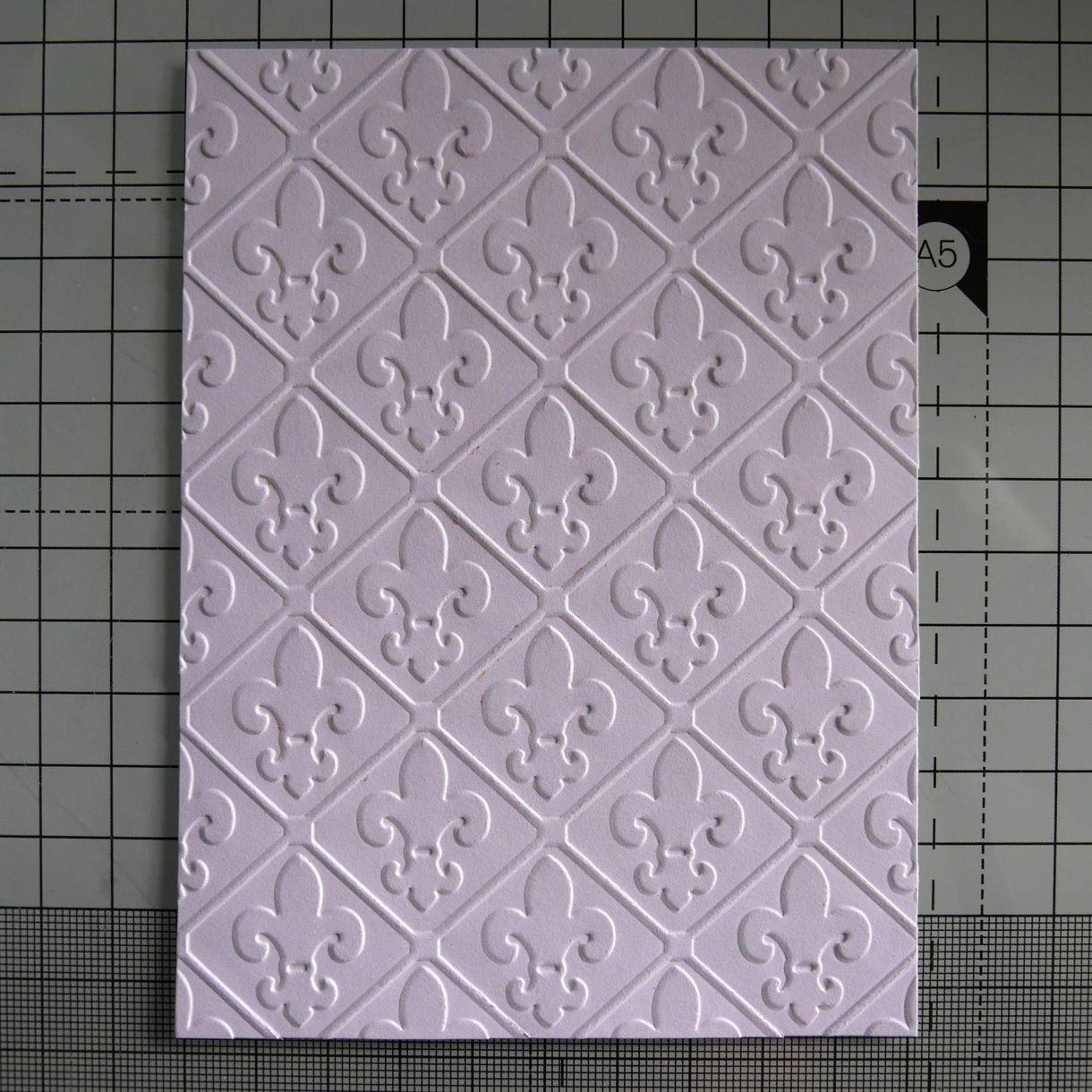 Love Heart Embossed Card Nm 1
