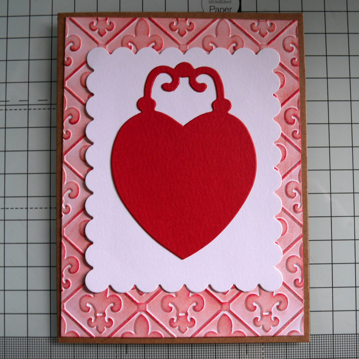 Love Heart Embossed Card Nm 4