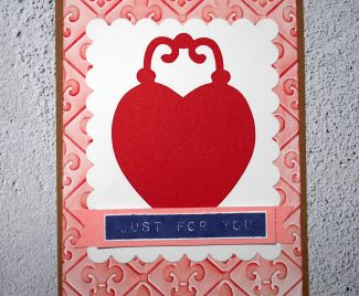 Just For You - Inked Embossed Background