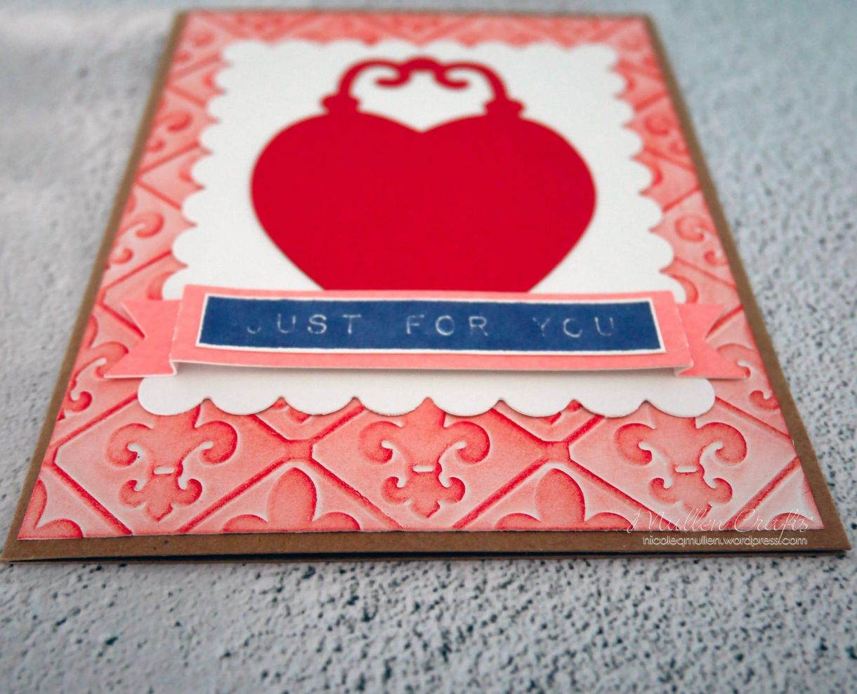 Love Heart Embossed Card Nm 7