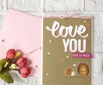 How To Make A Pink and Brown Love You Card