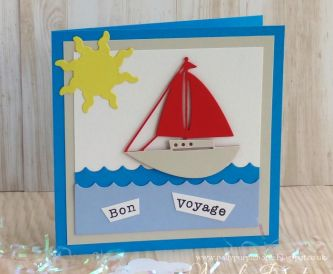 Bon Voyage Card - Step by Step Tutorial