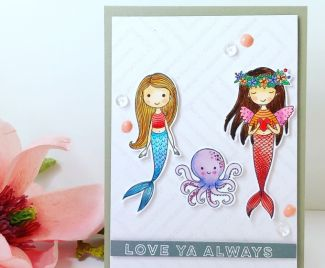 Mermaid Love Card