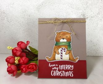A Merry Christmas Bear Card