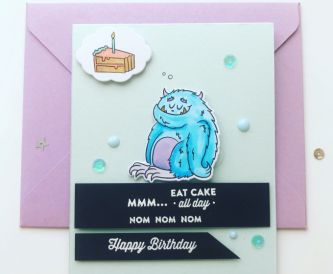 Mmm......Cake- Happy Birthday Card