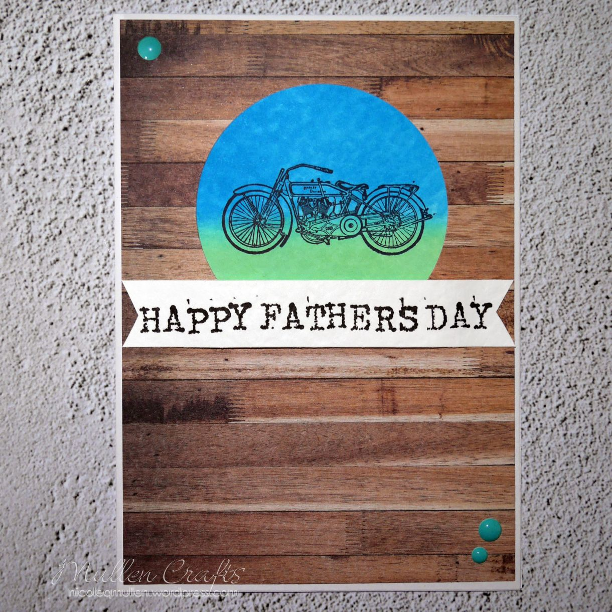 Motorbike Fathers Day Card Nm 6