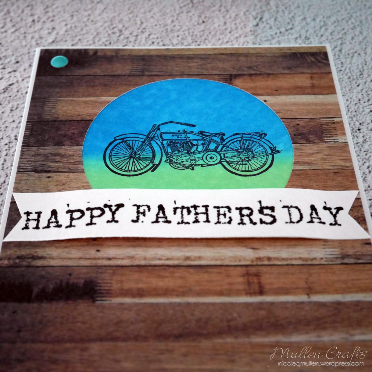 Motorbike Fathers Day Card Nm 7