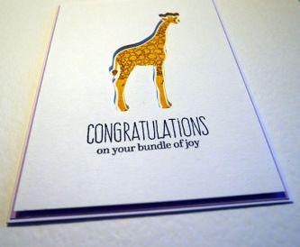 Negative Die Cutting Idea - Giraffe Baby Card