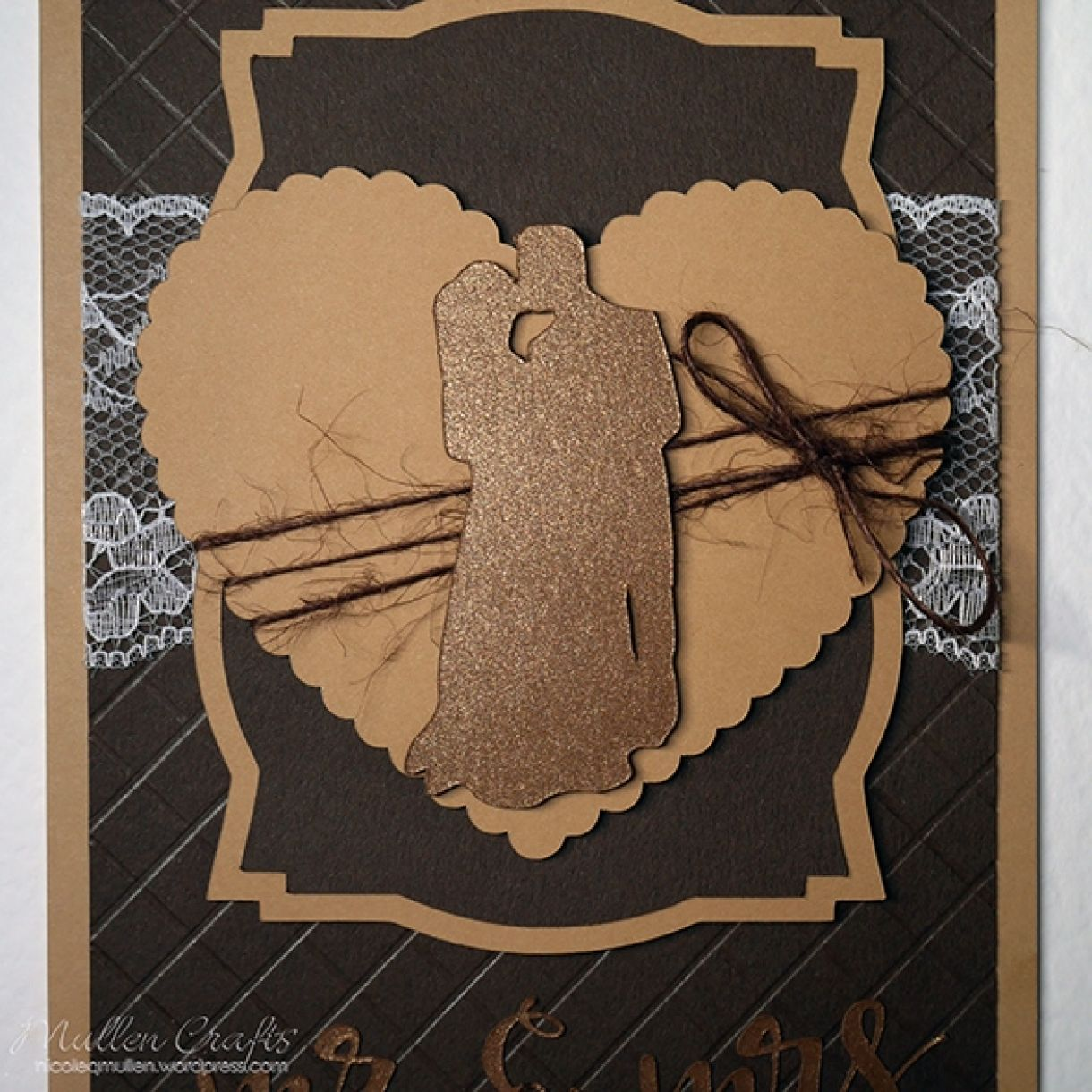 Neutrals Wedding Card With Hint Of Shimmer 15