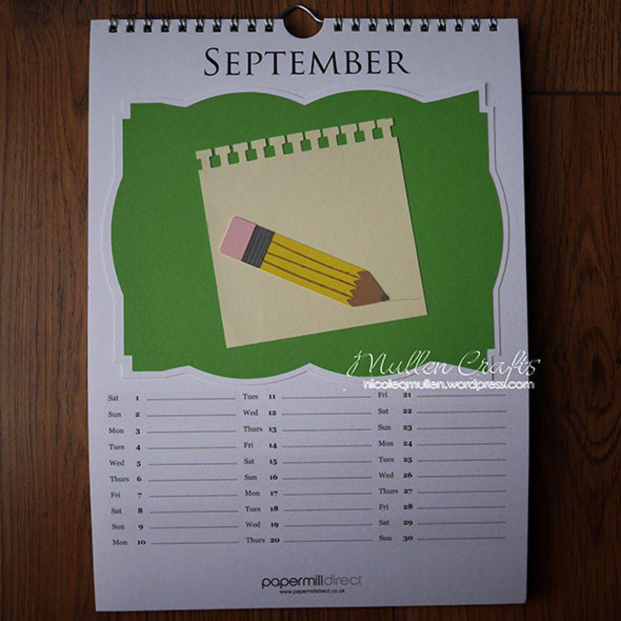 Nicole 2018 Calendar September1