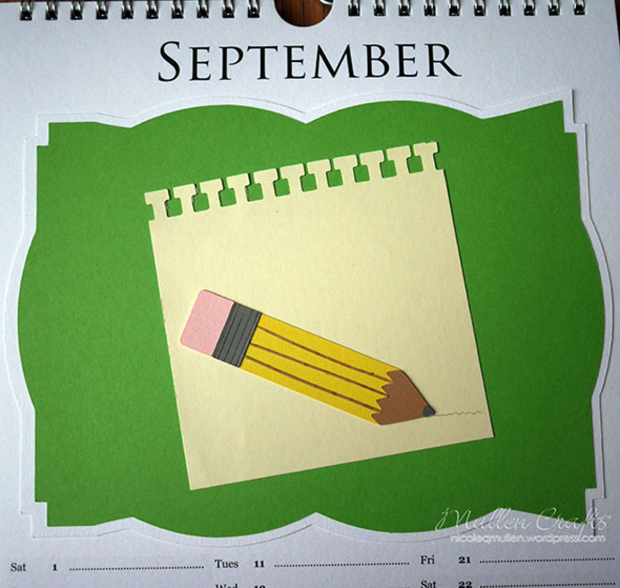 Nicole 2018 Calendar September2