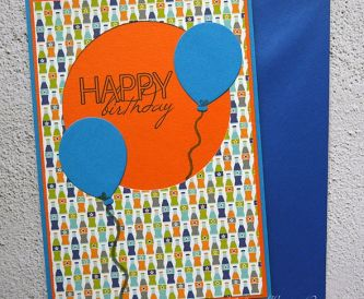 How To Make A Colourful Birthday Card