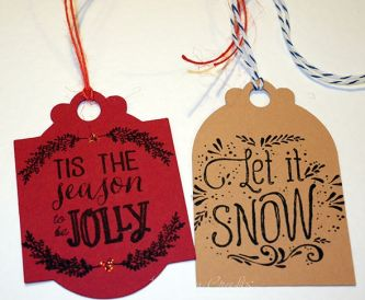 Last minute Christmas Tag Making!