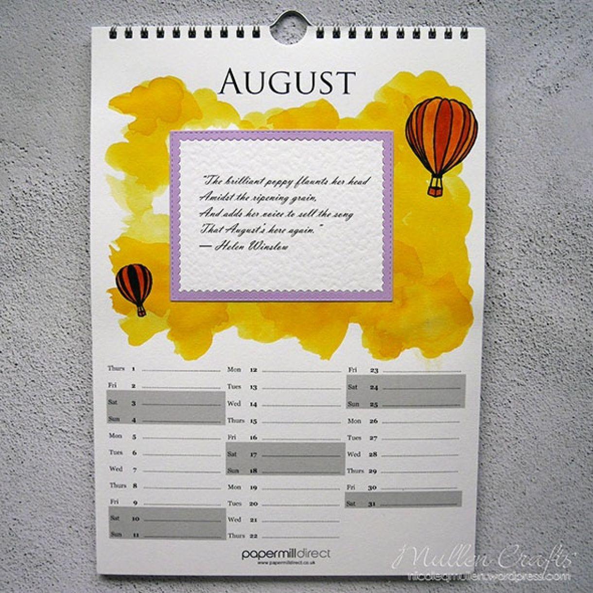 Nicole Calendar Page August 1