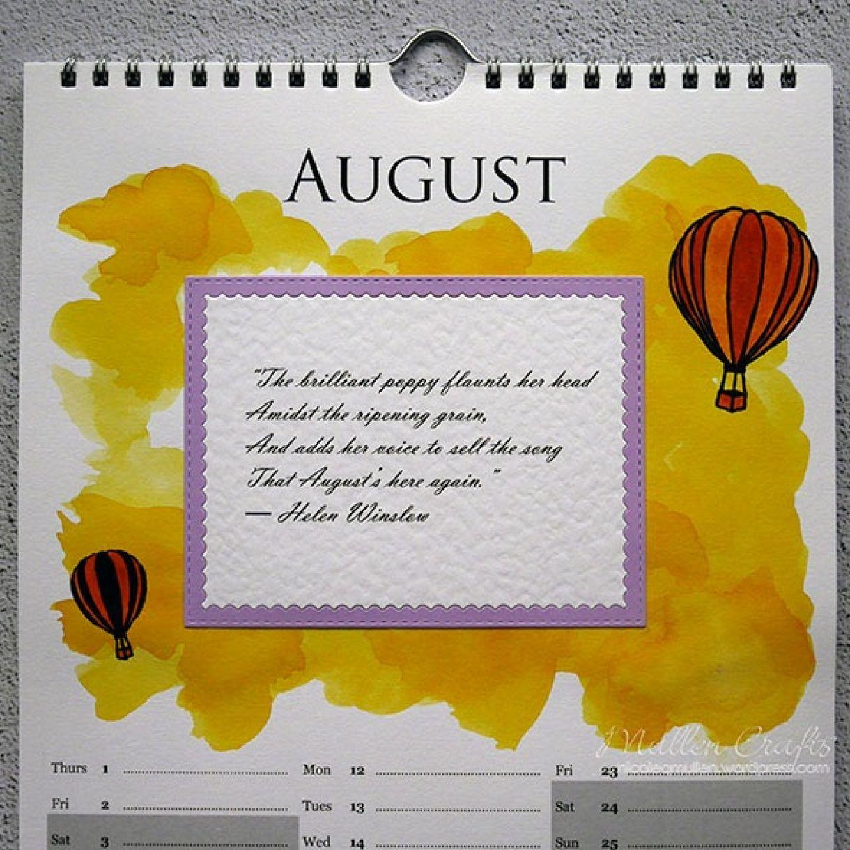 Nicole Calendar Page August 2