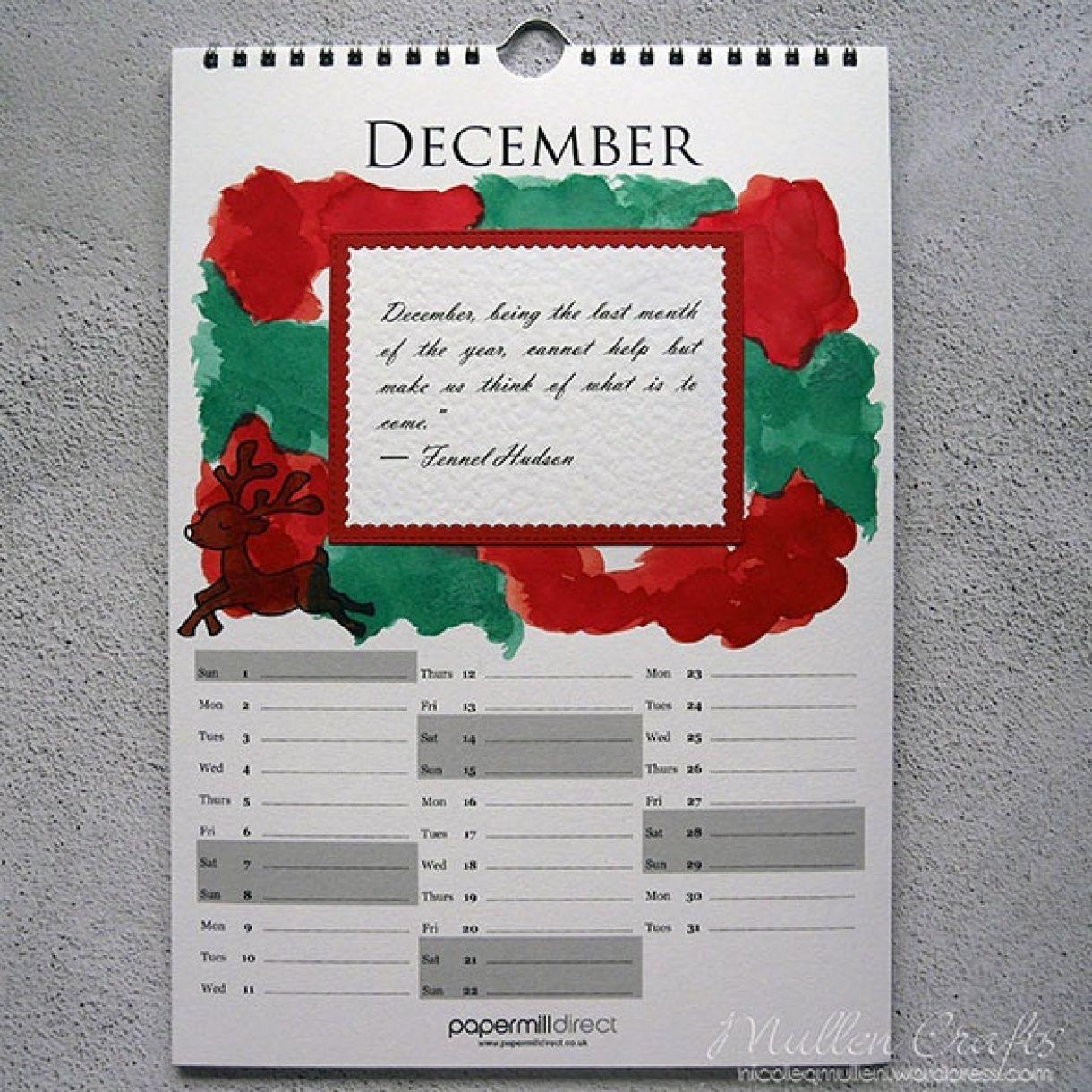 Nicole Calendar Page December 1