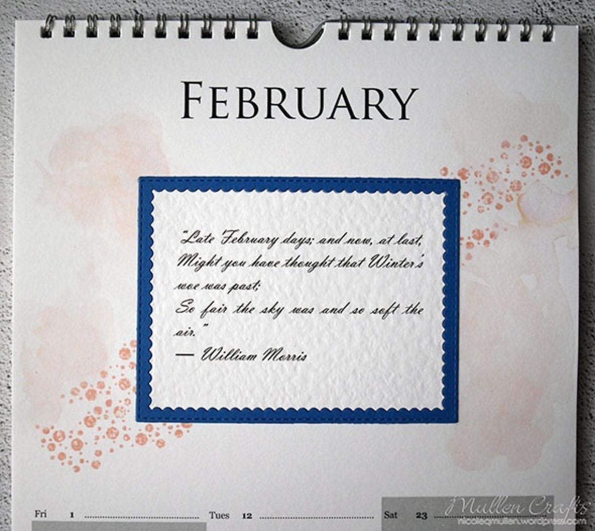 Nicole Calendar Page February 2