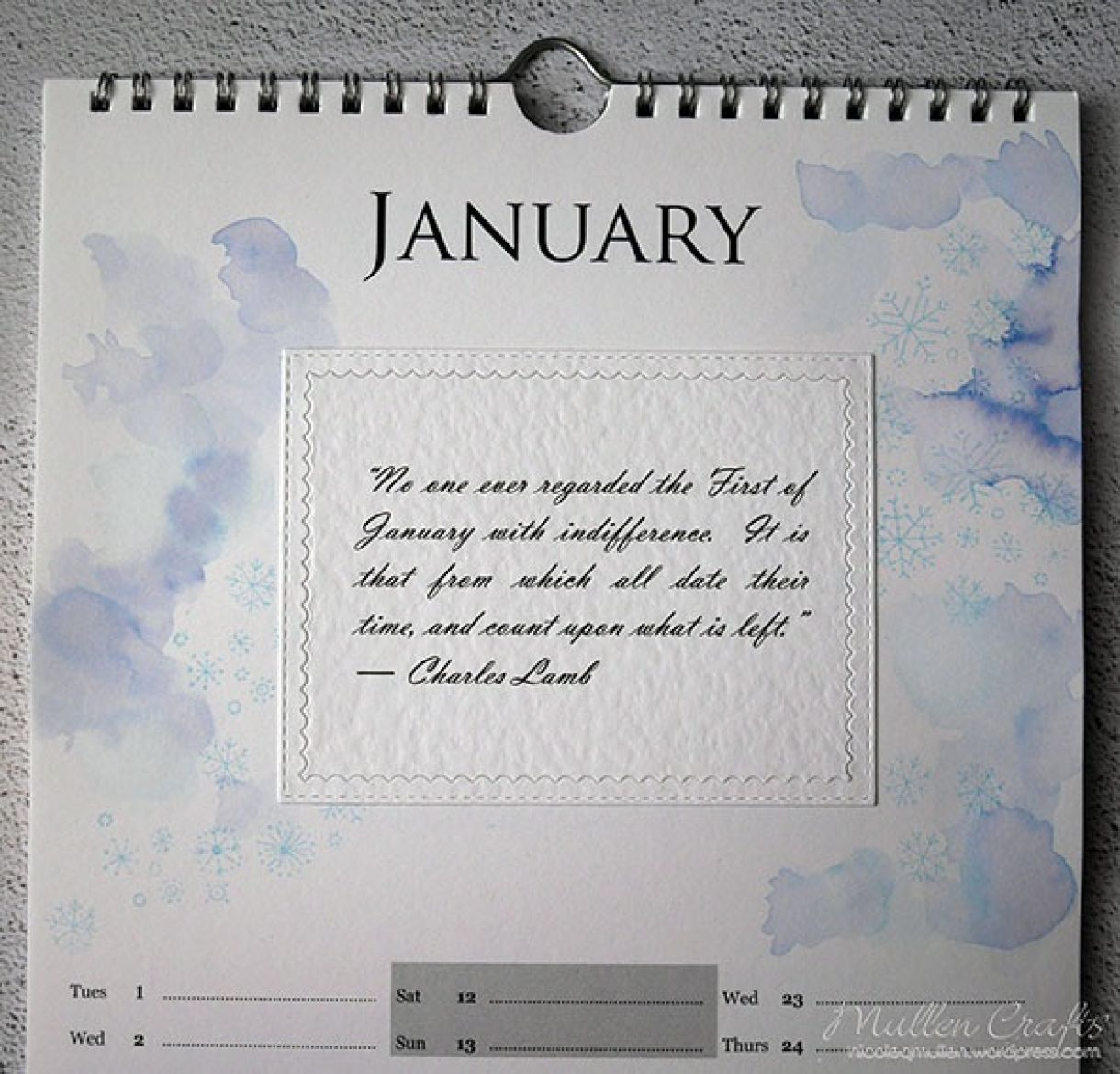 Nicole Calendar Page January 2