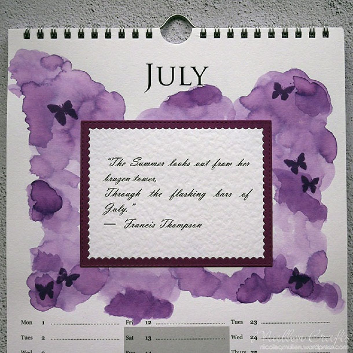 Nicole Calendar Page July 2