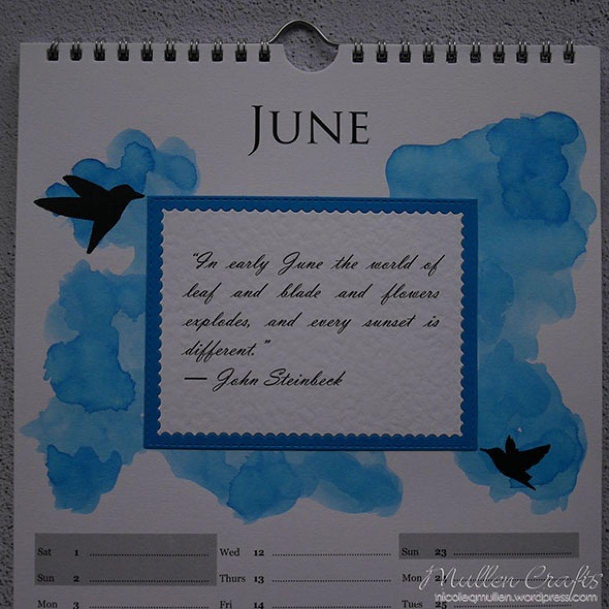 Nicole Calendar Page June 2
