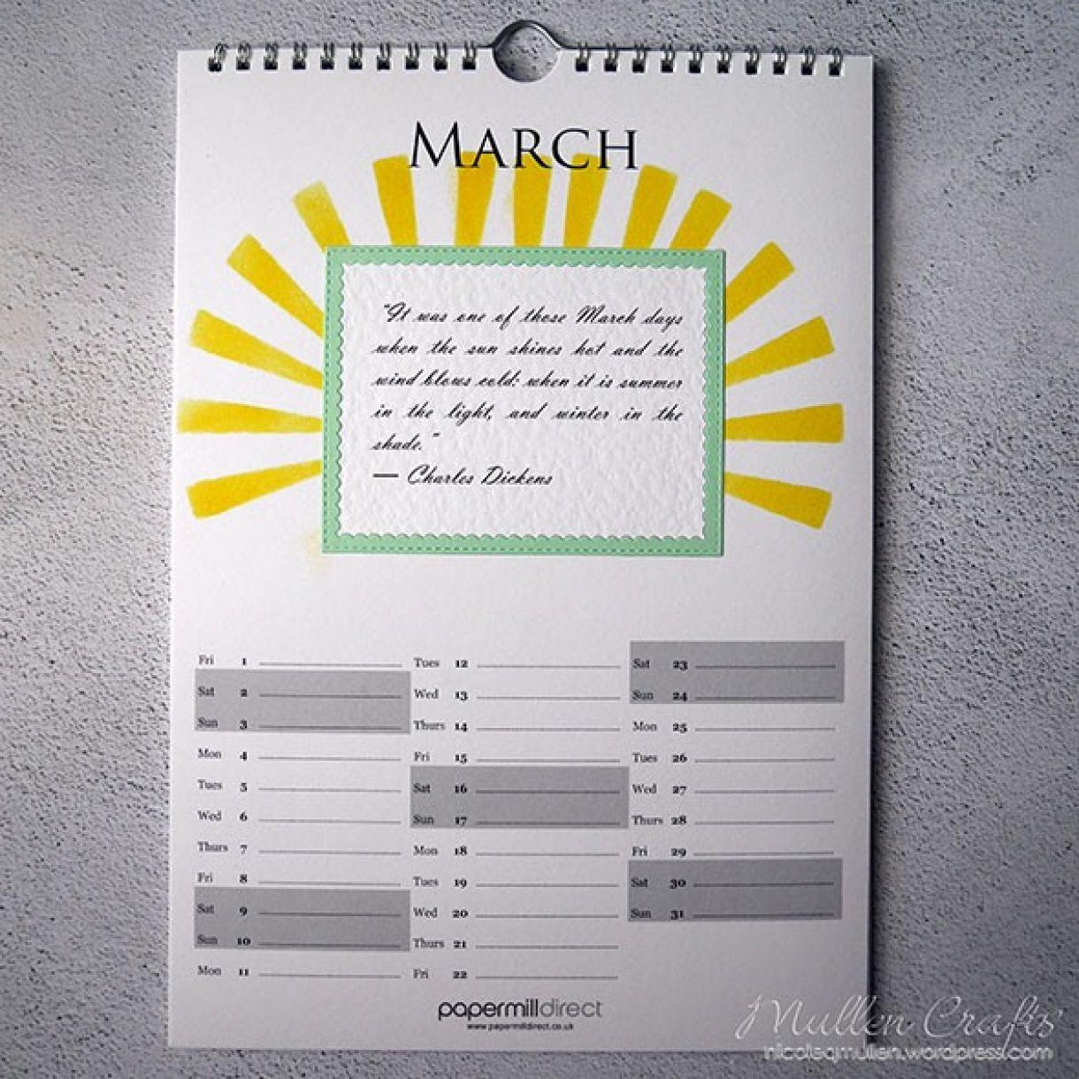 Nicole Calendar Page March 1
