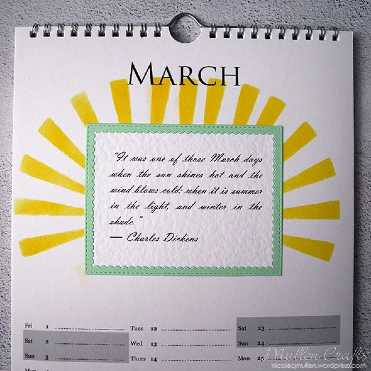 Nicole Calendar Page March 2
