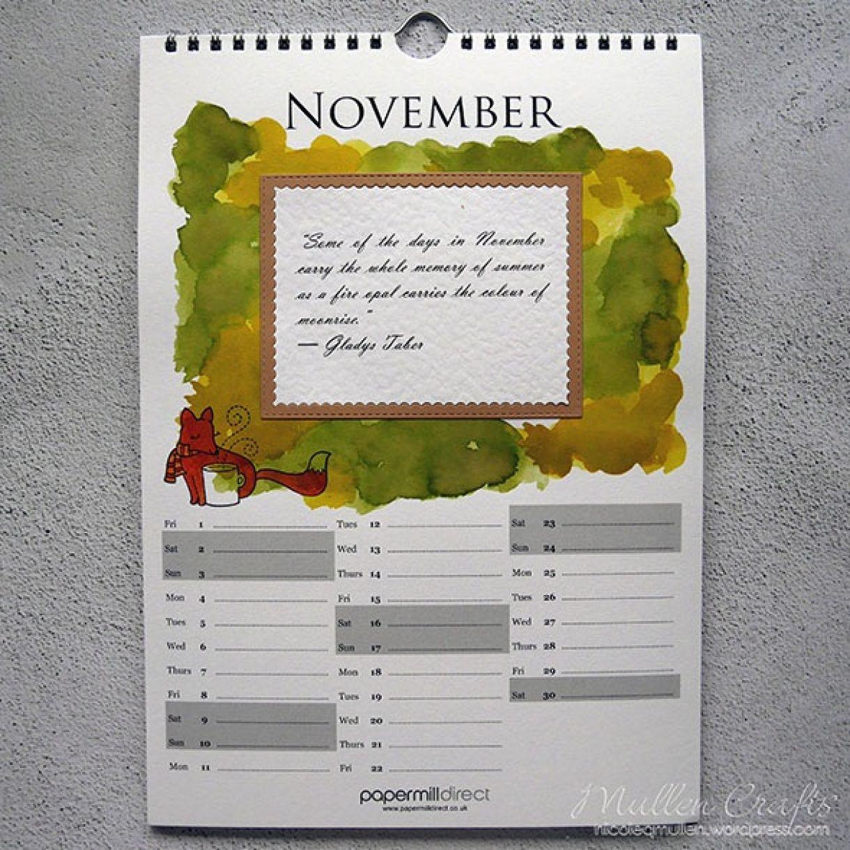 Nicole Calendar Page November 1