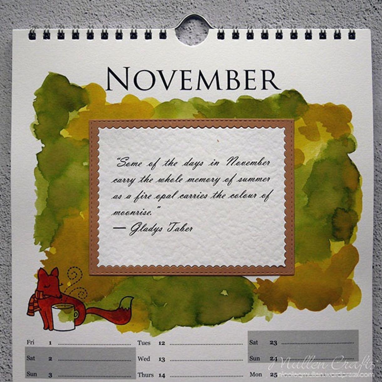 Nicole Calendar Page November 2