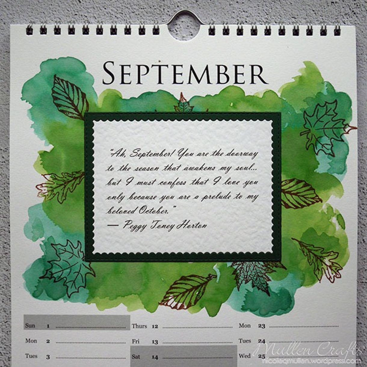 Nicole Calendar Page September 2