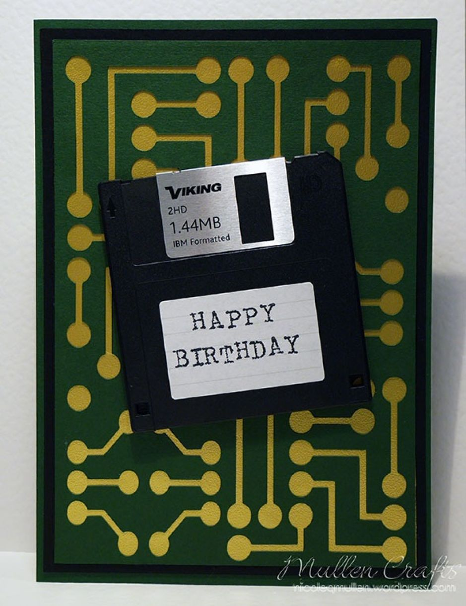 Nicole Floppy Disk Bday Card 6