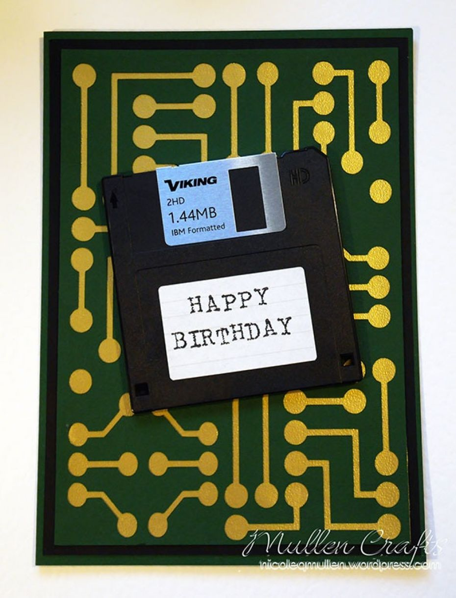 Nicole Floppy Disk Bday Card 7