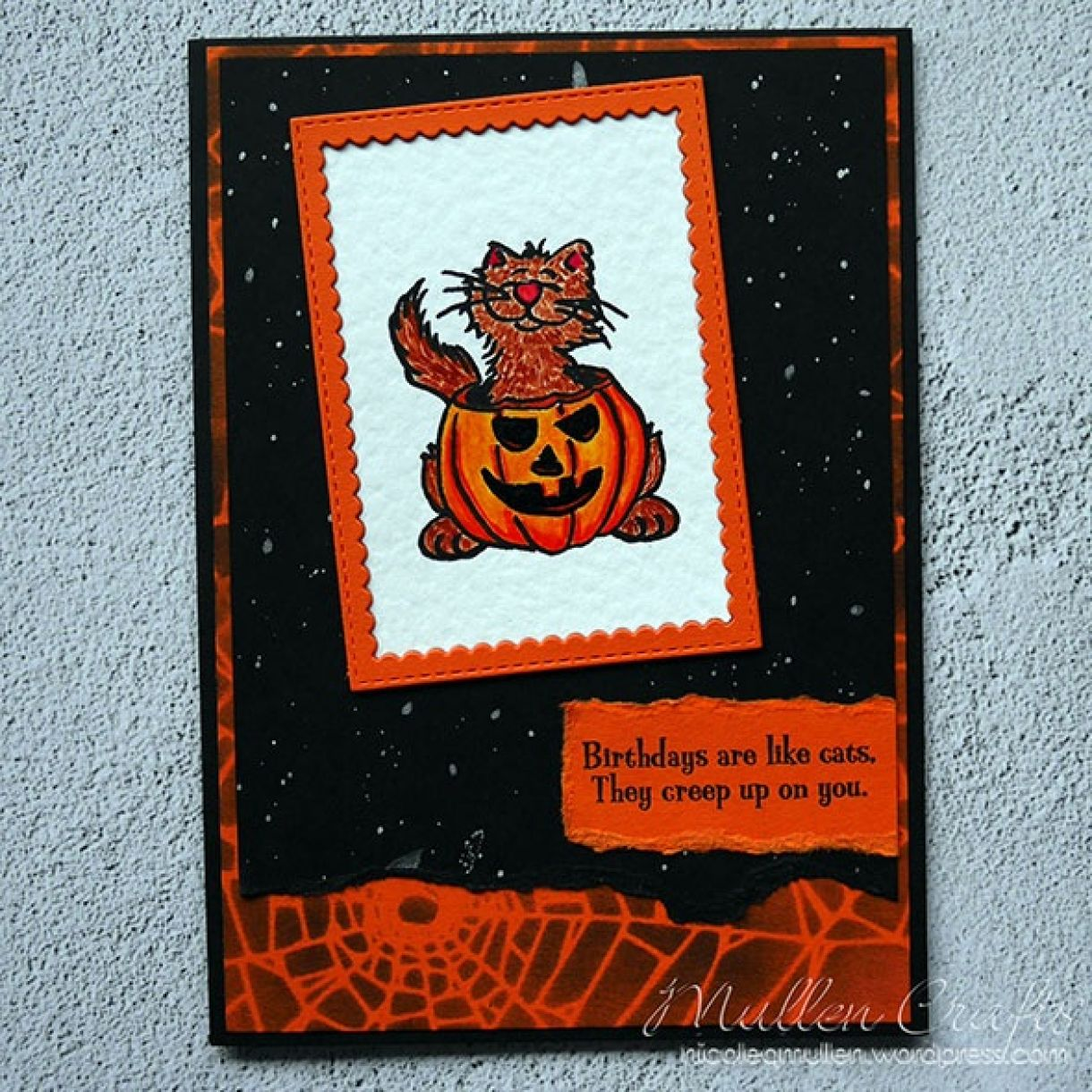 Nicole Halloween Birthday Card 1 Small