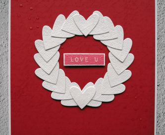Heart Wreath Valentine's Day Card
