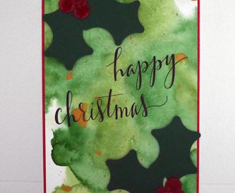 Watercolour Christmas Card