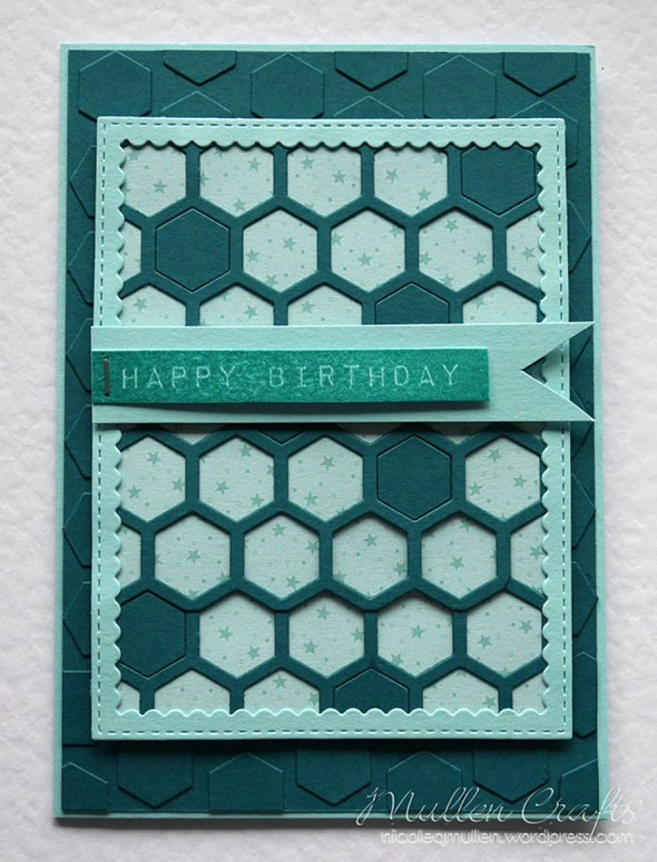Nicole Honeycomb Blue Bday Card 13