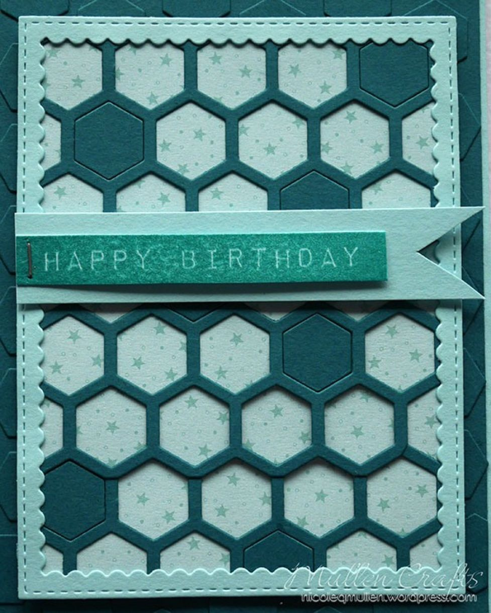 Nicole Honeycomb Blue Bday Card 14