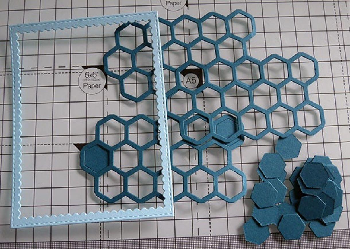 Nicole Honeycomb Blue Bday Card 2