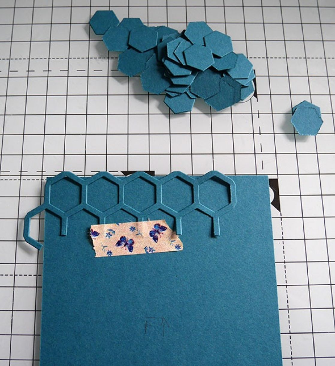 Nicole Honeycomb Blue Bday Card 6