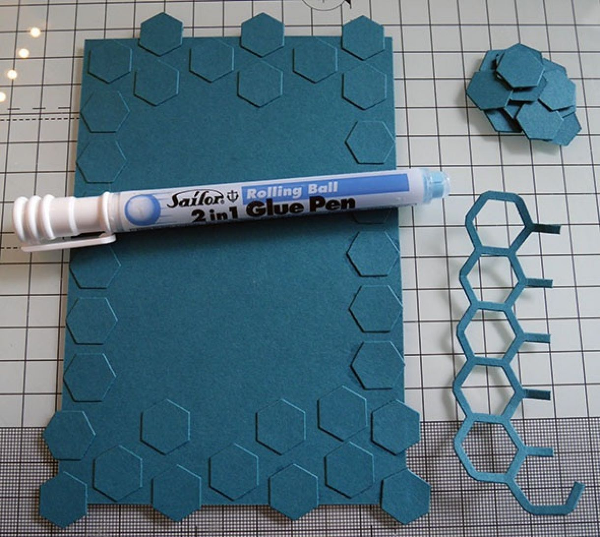 Nicole Honeycomb Blue Bday Card 8