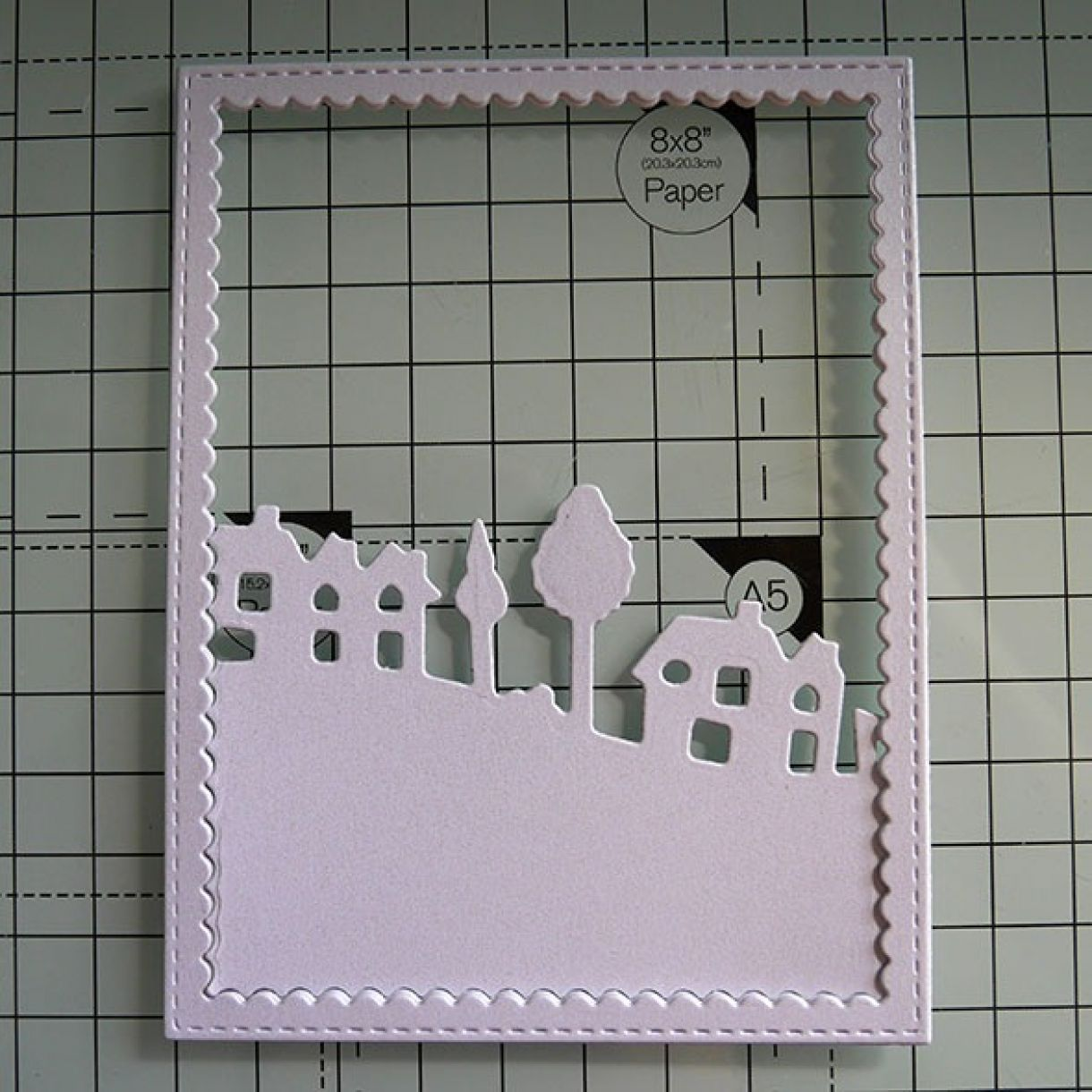 Nicole Navy White Shimmer House Card 5B